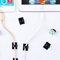 Combo 10 phụ kiện giữ dây cáp sạc PVC mini cho các thiết bị điện tử trên bàn làm việc - Hàng Chính Hãng