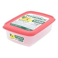 Hộp Nhựa Đựng Thực Phẩm 1.35L Hồng Sanada D5798 PE Nhật Bản