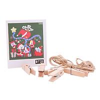 Hộp 40 Lomo Card Nhân Vật BT21 - Kèm Dây Và Kẹp Gỗ