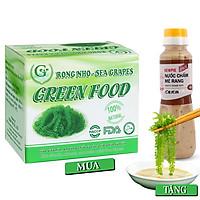 Rong nho biển GREEN FOOD - Sea grapes - Giàu vitamin, khoáng chất và các axit amin (Hộp 200g gồm 10 gói 20G)