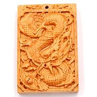 Mặt gỗ hoàng đàn khắc hình tượng Rồng MG54