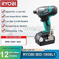 Máy vặn vít dùng pin 18V Ryobi BID-1806L1