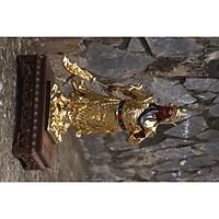 Tượng Quan Công đứng si vàng nhựa Composite