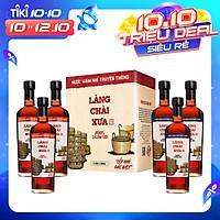 Combo 3 chai nước mắm nhỉ Làng Chài Xưa xuất khẩu nhãn xanh 500ml + 3 chai Làng Chài Xưa nhãn đỏ 500ml cốt nhỉ đặc biệt từ 100% cá cơm tươi