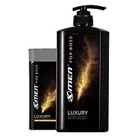 Combo Dầu gội nước hoa X-Men for Boss Luxury 650g + Sữa tắm nước hoa X-Men for Boss Luxury 180g