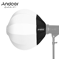 Andoer 26inch/65cm Lantern Softbox Collapsible Soft Boxes Light Modifier Compatible with Bowens Mount Lights for Studio