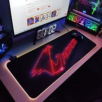 Mouse Pad, bàn di chuột, lót di chuột tích hợp Led RGB Aorus Version 2 sáng viền, kích thước 80cm x 30cm dày 4mm - Hàng nhập khẩu