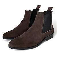 Giày Chelsea Boot Cổ Cao Da Bò Thật TEFOSS HT350 Nâu