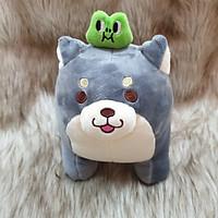 Chó Shiba nhồi bông size 30cm màu xám