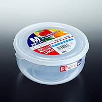 Hộp bảo quản thực phẩm tròn, nắp mềm 1,3 lít - Hàng nội địa Nhật Bản: