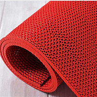 Thảm nhựa lưới chống trơn màu đỏ cho nhà cửa, nhà tắm, văn phòng, hồ bơi