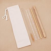 Ống Hút Thủy Tinh + Ống Hút Tre (Glass Straws + Bamboo Straws)