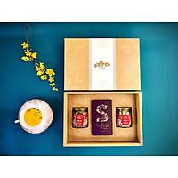 Set quà Tết nhụy hoa nghệ tây Saffron Shyam 1Gram tặng hoa cúc và hoa nhài 10 Gram