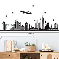Decal Dán Trang Trí Phòng | Tranh Dán Tường Chủ Đề Thành Phố Dubai