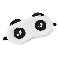 Cartoon Eyeshade Lovely Expression Style Eye Mask Travel Home Use Soft Comfortable Sleep Blindfold