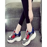 Giày sneaker nữ đế độn cao cấp phong cách Hàn Quốc