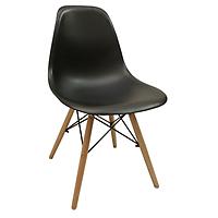 Ghế nhựa thiết kế Vintage chân giả gỗ cao cấp GXG015(đen)