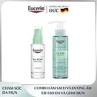 Bộ đôi làm sạch  Eucerin (Gel Rửa Mặt Eucerin Pro Acne Cleansing Gel 200ml + Tinh Chất Dưỡng Giảm Mụn, Mờ Sẹo Eucerin Pro Acne Super Serum 30ml)
