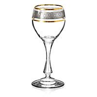 Bộ 6 ly rượu mạnh mạ Platin viền vàng 24k 060 ml Tiệp Khắc