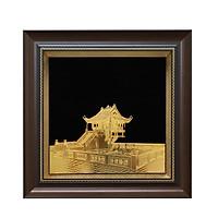 Tranh Chùa Một Cột Mạ Vàng 24K: Quà tặng đối tác người nước ngoài