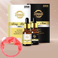 Combo Vua Mụn - Thâm Zenpali giúp ngăn ngừa mụn, mờ thâm mụn, thâm nám, làm sáng da, Tặng kèm băng đô thời trang