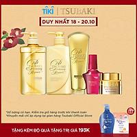 Bộ 5 sản phẩm Tsubaki Phục hồi ngăn rụng tóc chuyên sâu (Gội Xả 490ml/chai + Kem Xả 180g + Mặt nạ tóc 180g + Dầu dưỡng 50ml)