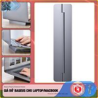 Giá đỡ gấp gọn hợp kim nhôm dùng  cho Laptop/Macbook - Đế tản nhiệt dạng xếp, siêu mỏng Baseus Papery Notebook Holder  (0.3cm slim, 8° Angle, Foldable, Portable Alloy Laptop Stand)-Hàng Nhập Khẩu