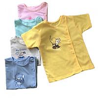 Combo 5 áo sơ sinh tay ngắn CÀI LỆCH màu Thái Hà Thịnh