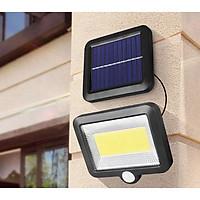 Đèn năng lượng mặt trời cảm biến chuyển động 100 LED siêu sáng pin tách rời chống nước đèn led đèn cảm ứng chuyển động đèn treo tường đèn ngoài trời