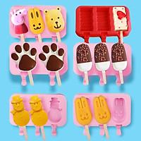 Khuôn kem silicon hình ngộ nghĩnh, khuôn làm kem cho bé cực xinh (GIAO MẪU NGẪU NHIÊN)