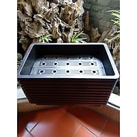 10 chậu trồng rau thông minh 2 đáy màu đen 67x43x15 cm