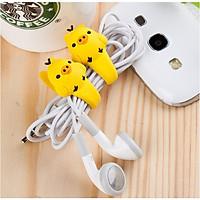 Bộ 2 Dây quấn thu gọn tai nghe,cáp sạc dễ thương, dây cột dây điện silicone siêu cute.(giao mẫu ngẫu nhiên) GD321-CotDDCute