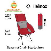 Ghế dã ngoại xếp gọn Helinox Savanna Chair Scarlet Iron Block