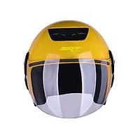 Mũ bảo hiểm 3/4 SRT A19K Vàng - thiết kế thể thao, chất liệu nhựa ABS siêu bền