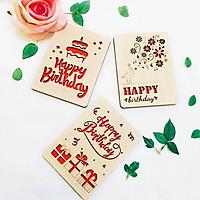 Thiệp gỗ sinh nhật để bàn handmade (Mẫu ngẫu nhiên)