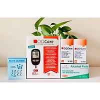 Trọn bộ Máy đo đường huyết OGCARE tặng kèm 100 Que+100 Kim lấy máu và 100 cồn sát khuẩn
