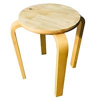 Ghế gỗ mặt tròn phong cách