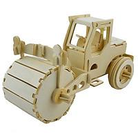 Mô hình lắp ghép 3D bằng gỗ Xe máy ủi - Car Bulldozer