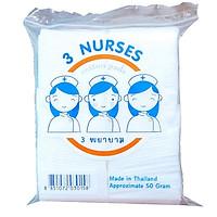 Bông tẩy trang y tế 120 miếng 3 Nurses cotton pads 50gr