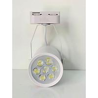 Đèn ray hạt chiếu điểm led SMD 7W vỏ đen - trắng dùng trong ngành trang trí, quảng cáo - màu sắc ngẫu nhiên