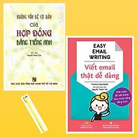 Combo Easy Email Writing - Viết Email Thật Dễ Dàng và Những Vấn Đề Cơ Bản Của Hợp Đồng Bằng Tiếng Anh ( Tặng Kèm Viết)