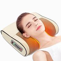 Gối massage hồng ngoại trị liệu 16 bi - Máy massage Cổ, Vai, Gáy, Lưng, Eo