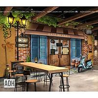 Tranh dán tường quán cafe ADH181220-1