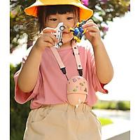 Quạt Cổ Treo Di Động Hình Khủng Long Dễ Thương Quạt Mini 3 Tốc Độ Điều Chỉnh Độ ồn thấp Quạt cầm tay có thể sạc lại Quạt làm mát nhẹ với dây buộc có thể điều chỉnh cho trẻ em đi du lịch ngoài trời