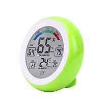 Máy đo nhiêt độ, độ ẩm hình tròn dạng mini - Tặng thêm 2 móc dán treo đồ