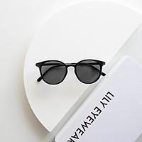 Kính mát nam nữ Lilyeyewear mắt tròn càng kim loại chắc chắn thiết kế thời trang R0006