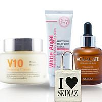 Combo mỹ phẩm Skinaz dưỡng da ngày và đêm - Tặng kèm túi xách thời trang tiện dụng