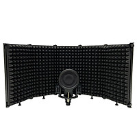 Foldable Adjustable Sound Absorbing Vocal Recording Panel Portable Acoustic Isolation Microphone Shield Sound-proof