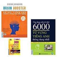 Combo Brain Booster - Nghe Phản Xạ Tiếng Anh Bằng Công Nghệ Sóng Não Để Nói Tiếng Anh Thành Công Sau 30 Ngày Dành Cho Người Mất Gốc+Ứng Dụng Siêu Trí Nhớ 6000 Từ Vựng Tiếng Anh Cơ BBản Thông Dụng Nhất  Tặng kèm 360 ĐT BQT 12 Thì