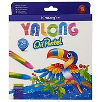 Sáp Dầu 24 Màu Yalong 95086-24 - Bao Bì Màu Xanh